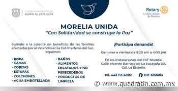 Invitan a colecta en apoyo por incendio al Sur de Morelia - Quadratín - Quadratín Michoacán