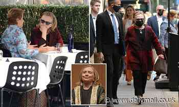 Hillary Clinton enjoys lunch with friend in NYC after being inaugurated as honorary chancellor