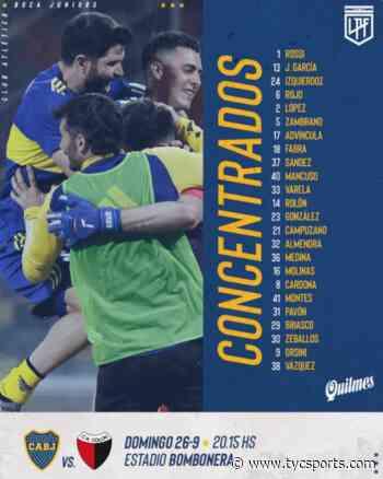 Son novedades, la lista de Boca para jugar con Colón - TyC Sports