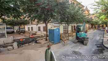 La calle Colón renovará la red de agua potable para mejorar el suministro - Valle de Elda