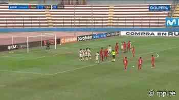 ¡GO-LA-ZO! Luis Benítes de Sport Huancayo anotó de tiro libre ante Universitario - RPP Noticias