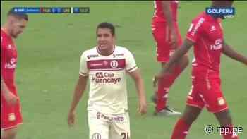 Universitario se acerca: Alex Valera asustó con un cabezazo y casi anota el 1-0 ante Sport Huancayo - RPP Noticias