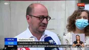 Porto. Vladimiro Feliz vota e pede adesão dos portuenses - RTP
