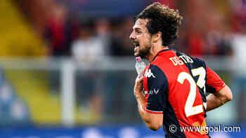 Genoa striker Destro scores wonder goal - while bizarrely carrying a bottle of water