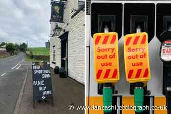 Blackburn pub's hilarious jibe at fuel stockpilers