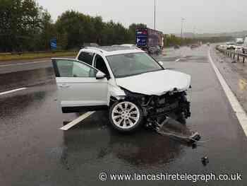 Motorists warned following crash on M6