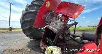 Accidente en Pueblo Nuevo: fuerte choque partió un tractor y calcinó camioneta - Periódico AM