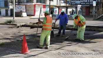 Realizan trabajos de bacheo en Pueblo Nuevo - Oaxaca MX - Agencia Oaxaca MX