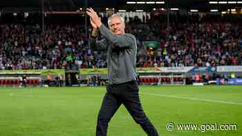 Freiburg coach Streich moved to tears after hearing fans sing his name in the club's final game at Black Forest Stadium