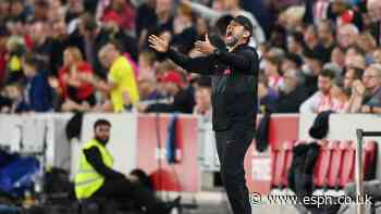 Klopp wants 'reaction' after Brentford slip-up