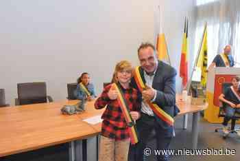 Bas Stockman is nieuwe kinderburgemeester, derde schepen is dochter van 'echte' schepen
