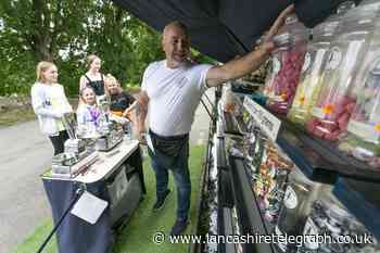 Traditional sweet shop on board couple's Lancashire canal barge home