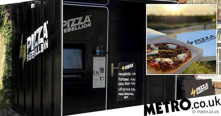 The 'UK's first' pizza vending machine offers five different varieties – ready in minutes