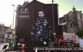Darwen: Huge Adidas mural of Manchester United defender Luke Shaw