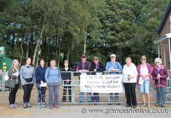 Fetternear walkers fundraising support for FROM Scotland charity - Grampian Online
