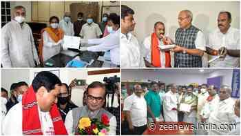 BJP gets first MP from UT in Rajya Sabha, Sonowal, Murugan and TMC`s Sushmita Dev elected unopposed