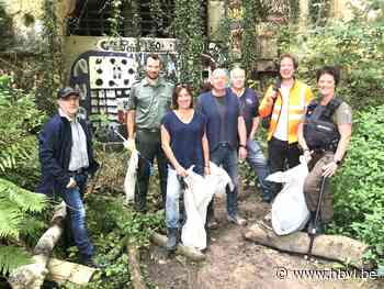 Grote schoonmaak in mergelgroeve van Caestert levert gigantische afvalberg op - Het Belang van Limburg