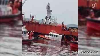 Tripulante morre após lancha afundar na Baía de Guanabara - G1
