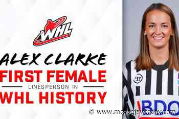 Weyburn's Clarke to make debut as first female WHL on-ice official tonight at Mosaic Place - moosejawtoday.com