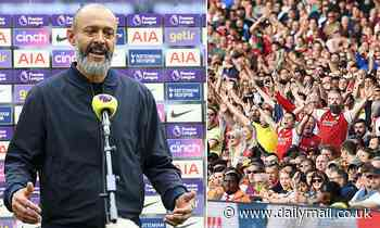 Tottenham boss Nuno Espirito Santo pulled out of TV interview after he received vile abuse by fans
