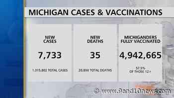 Michigan Health Officials Report 7733 Coronavirus Cases, 35 Deaths - 9 & 10 News - 9&10 News