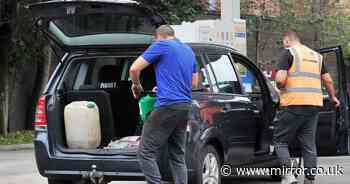 UK fuel shortages: Panic buyers risk blowing up cars as full jerry cans could EXPLODE
