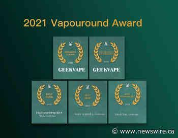 Marca chinesa de vaporizadores Geekvape conquista cinco prêmios no Vapouround Award 2021