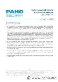 Epidemiological Update: Coronavirus disease (COVID-19) - 27 September 2021 - Pan American Health Organization