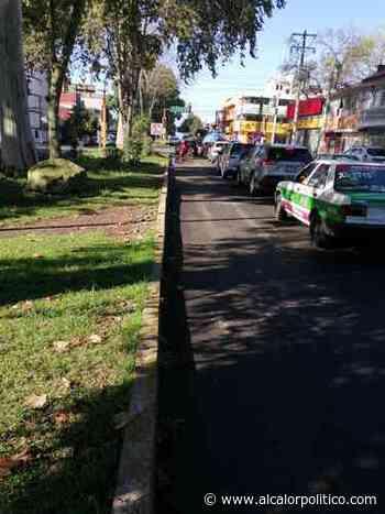 Bache en avenida Ferrocarril Interoceánico, en Xalapa - alcalorpolitico