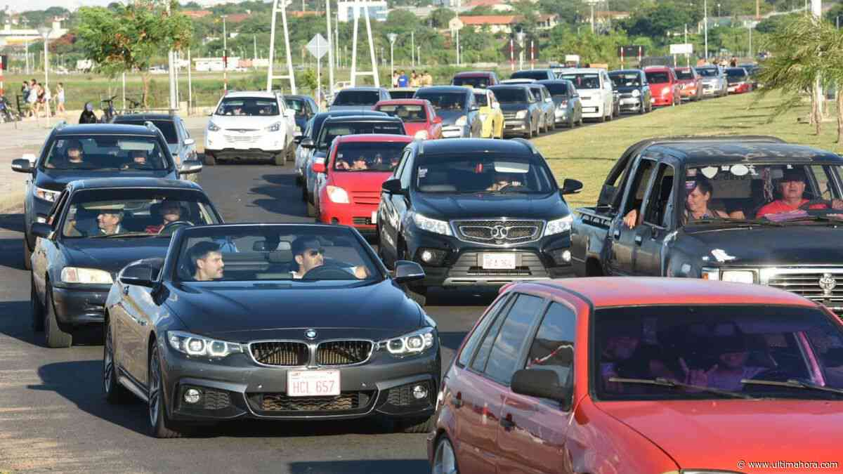 Caminera estima que 70.000 vehículos retornarán esta tarde a Asunción y Central - ÚltimaHora.com
