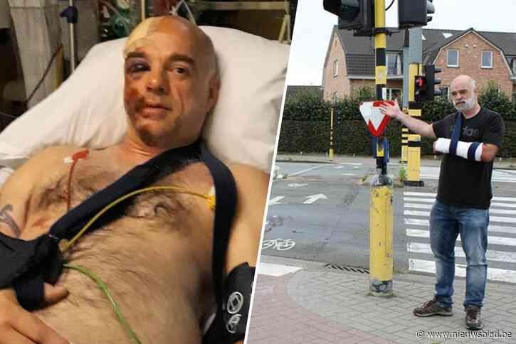 """René twee keer aangereden op hetzelfde kruispunt: """"Eerste keer verkeerde ik in levensgevaar. Nu vloog ik drie meter ver"""""""