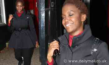 Strictly's Oti Mabuse struggles to keep her eyes open as she heads home after training