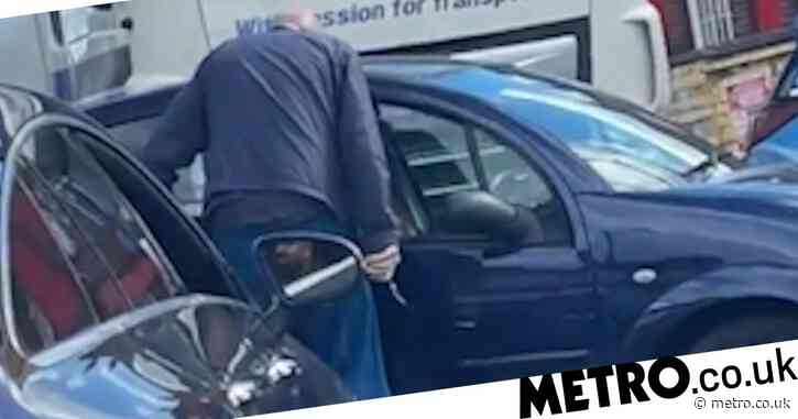 Man 'pulls out a knife' as tempers fray outside petrol station as drivers queue