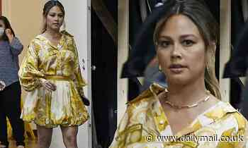 Vanessa Lachey parades her toned legs in a flirty minidress while promoting her show NCIS: Hawaiʻi
