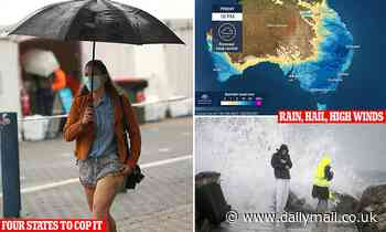 'Rain bomb' coming with 'giant hail and supercell storms' set to hit Victoria, Queensland and NSW