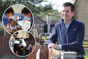 Tim Henman visits Chailey Heritage School in North Chailey, Lewes