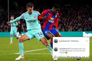 Albion star pokes fun at Wilfred Zaha after late equaliser