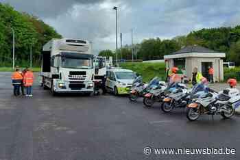 Politie controleert extra op rijden onder invloed en zwaar vervoer