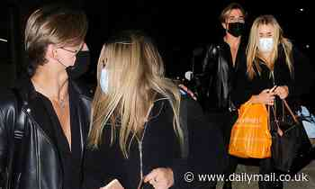 Strictly's Tilly Ramsay and Nikita Kuzmin enjoy a friendly chat as they leave It Takes Two filming
