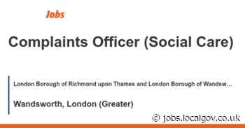 Complaints Officer (Social Care) job with London Borough of Richmond upon Thames and London Borough of Wandsworth | 155513 - LocalGov