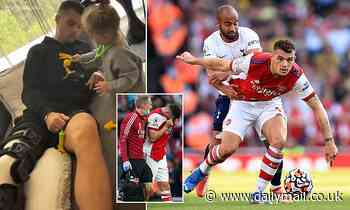 Arsenal: Granit Xhaka wears knee brace as he awaits scan results after limping off vs Tottenham