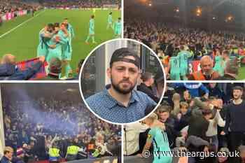 Chicago football fan captures Albion's joy against Palace