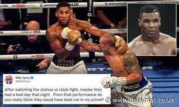 Mike Tyson claims Anthony Joshua AND Oleksandr Usyk had a 'bad night'