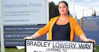 Bradley Lowery Way named after inspirational youngster at Blackhall Colliery and is unveiled by his mum