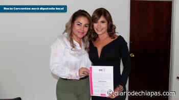 Entregan constancia a suplente de Aida Guadalupe - Diario de Chiapas