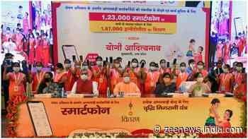 Uttar Pradesh CM Yogi Adityanath hands over 1 lakh smartphones to Anganwadi workers under Nutrition programme