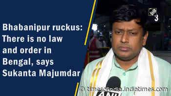 Bhabanipur ruckus: There is no law and order in Bengal, says Sukanta Majumdar