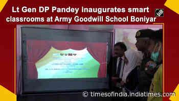 Lt Gen DP Pandey inaugurates smart classrooms at Army Goodwill School Boniyar