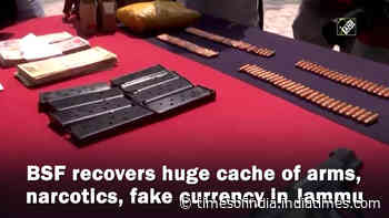 BSF recovers huge cache of arms, narcotics, fake currency in Jammu