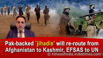 Pak-backed `jihadis' will re-route from Afghanistan to Kashmir, EFSAS to UN